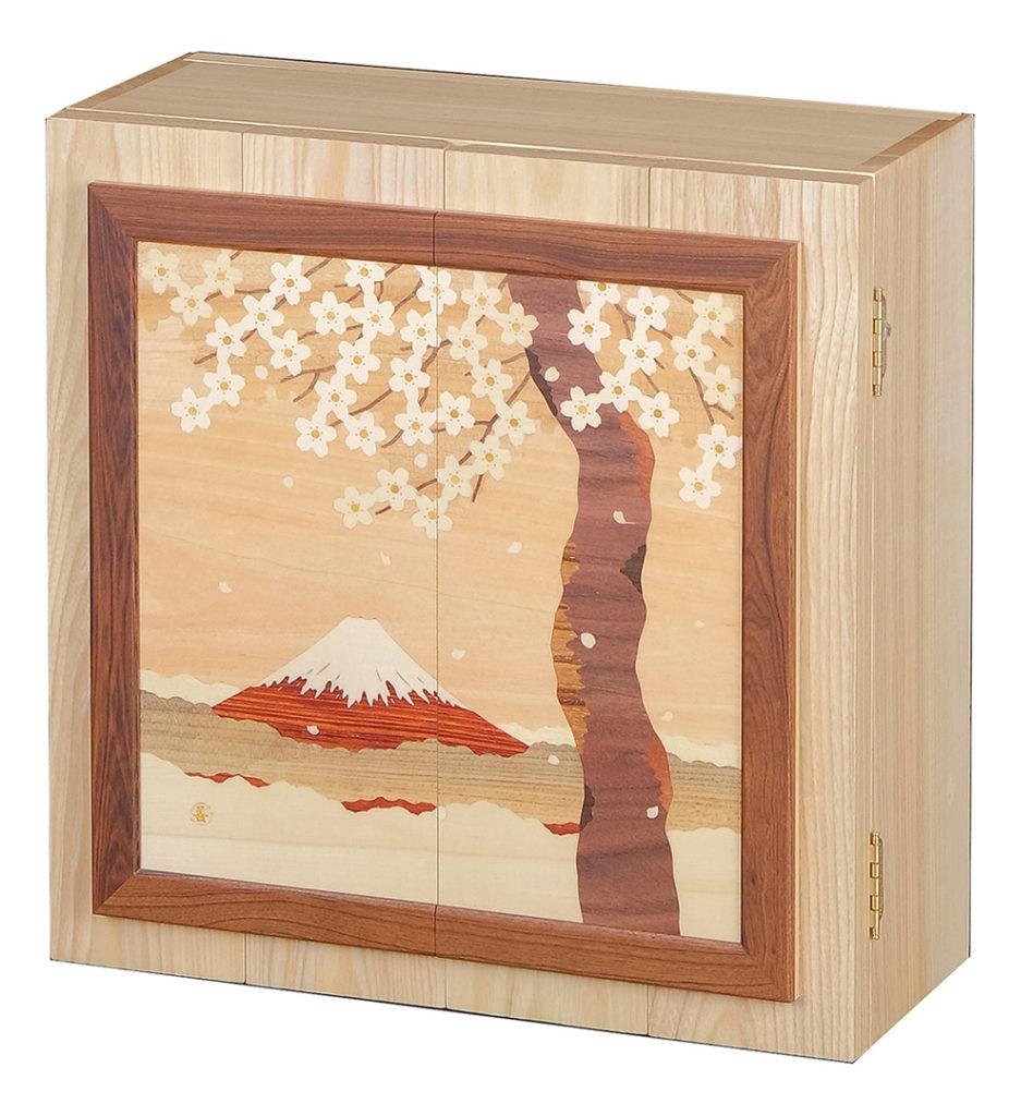 木象嵌「桜富士」